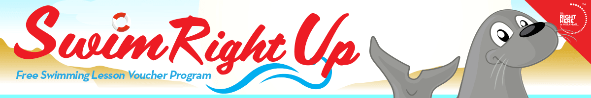 Swim Right Up Banner