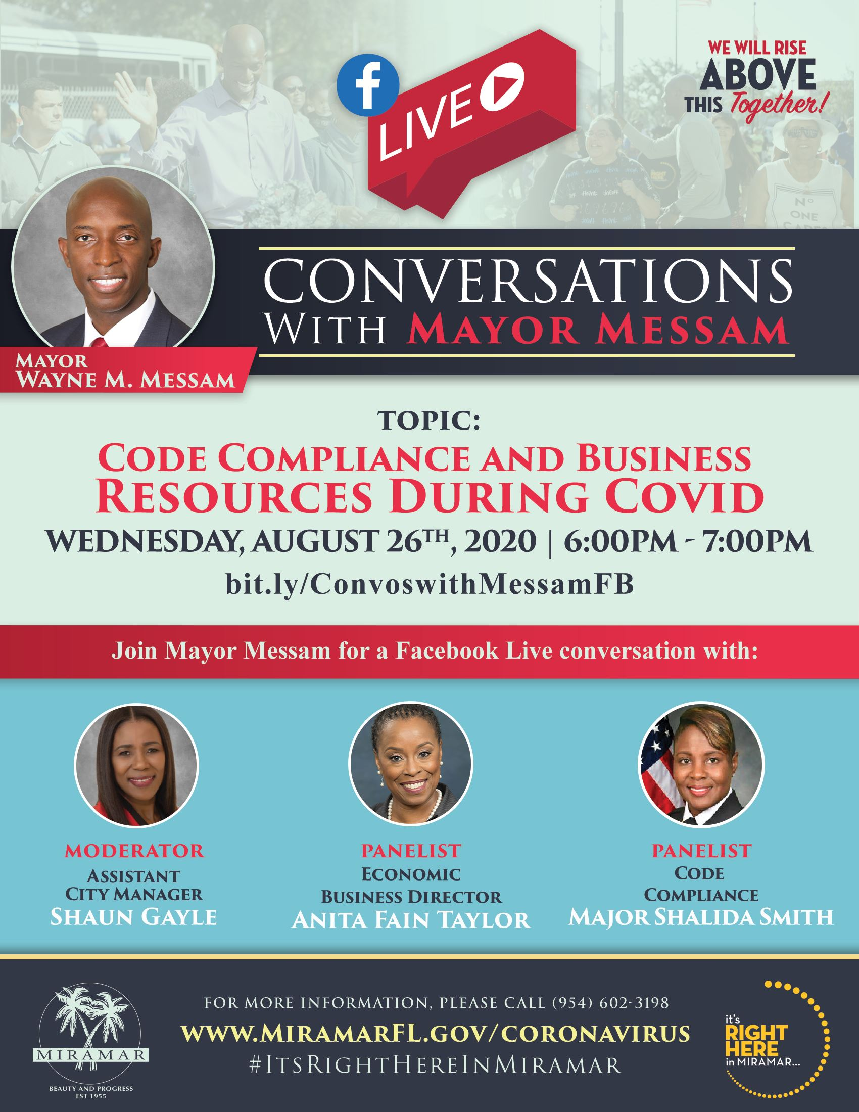 Conversations with Mayor Messam 0826 - Flyer