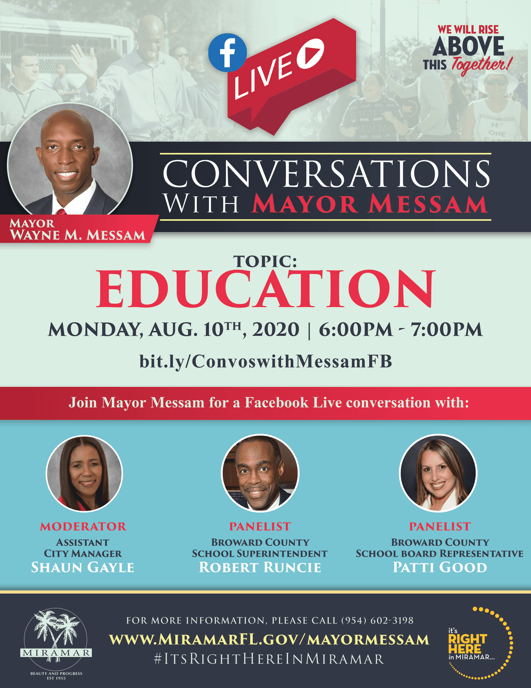 Conversations with Mayor Messam 0810 - Flyer