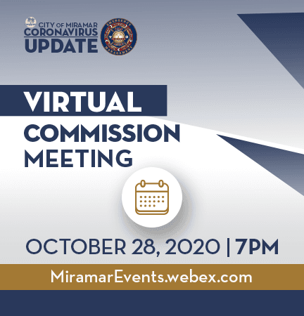 Virtual Commission Meeting - October 28th Home Page Banner