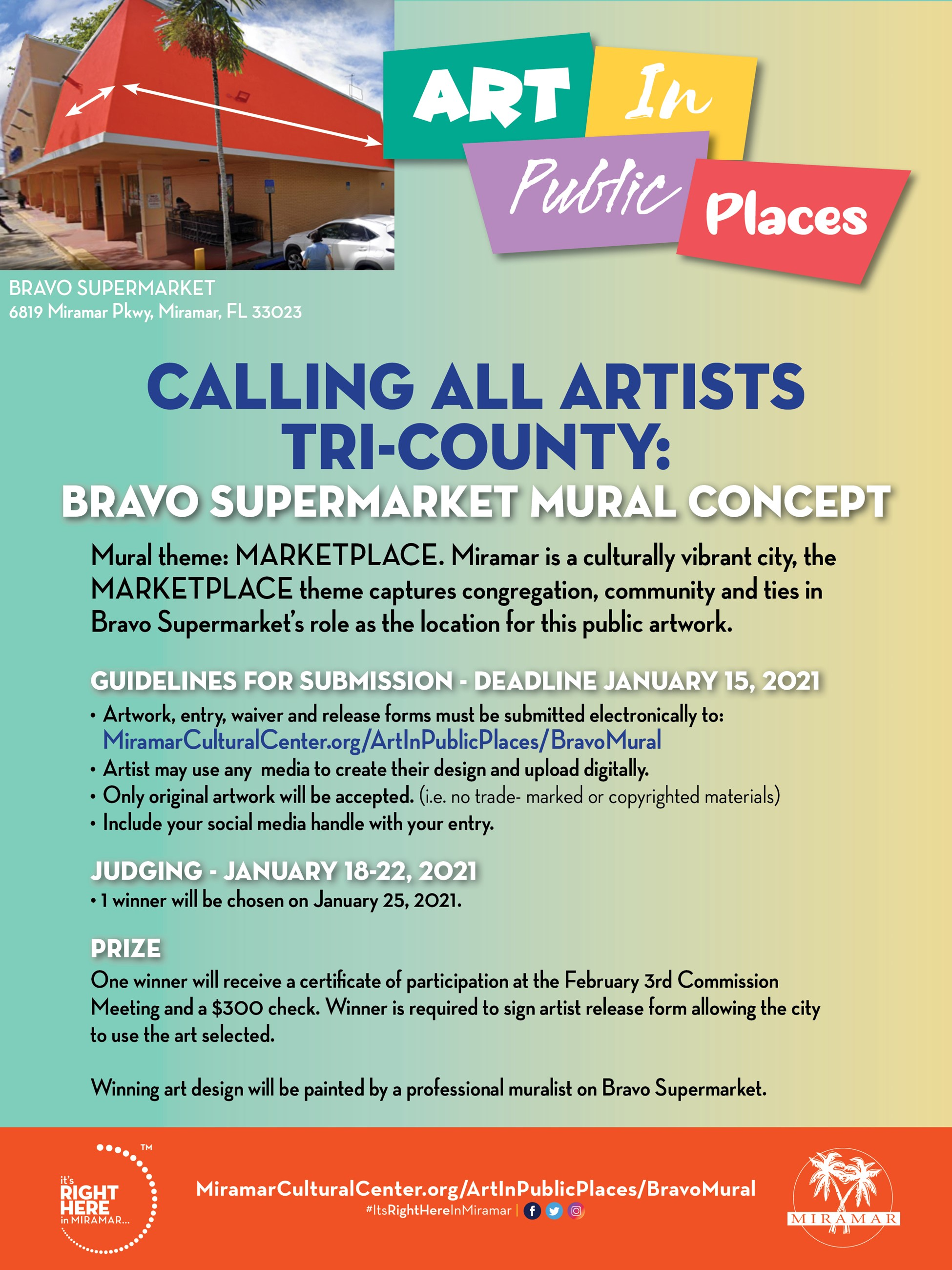 Art in Public Places Calling All Artists - Flyer