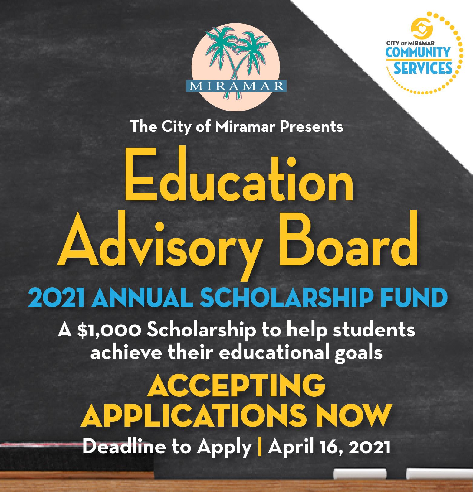4th Annual Education Advisory Board Scholarship -  home page banner