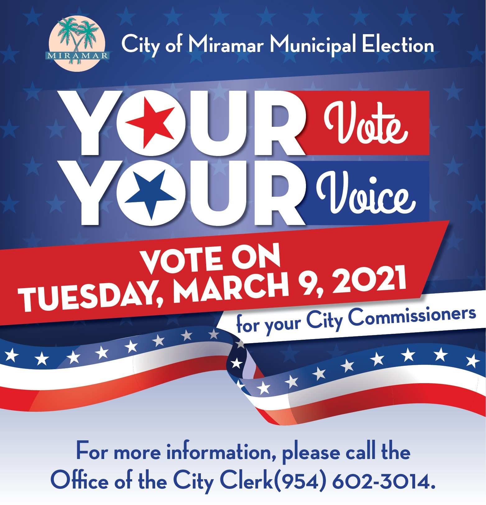 City of Miramar Municipal Election March 9 - Home Page Banner