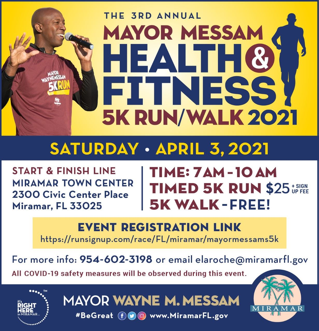 Mayor Messam 5K RUN 2021 - Home Page Banner