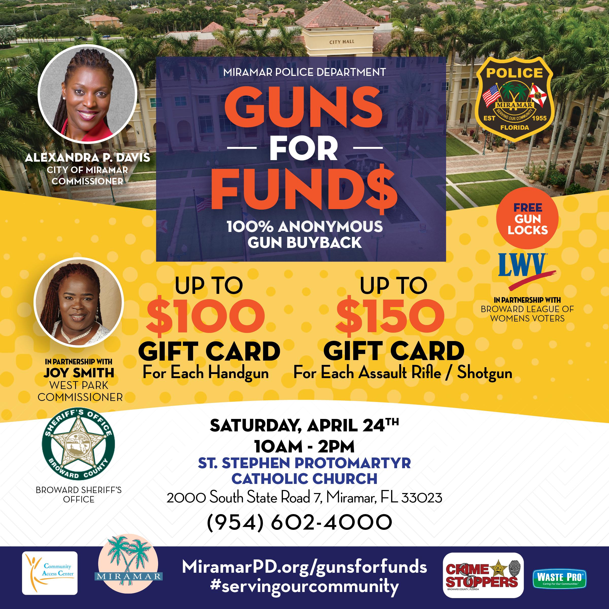 Guns for Funds Event - April 24, 2021 St. Stephen Catholic Church, 2000 S. State Road 7 10 AM - 2PM