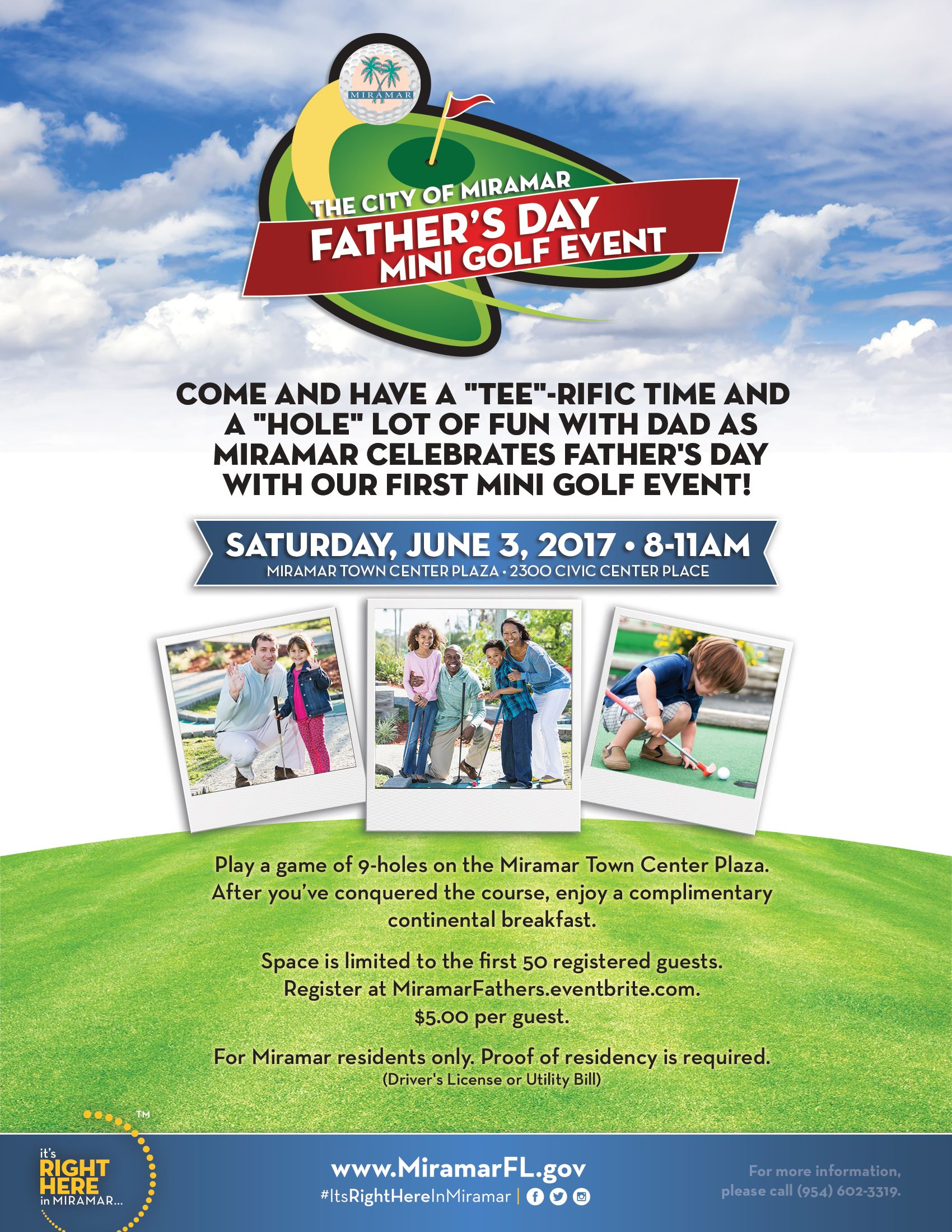 Fathers Day MiniGolf Flyer
