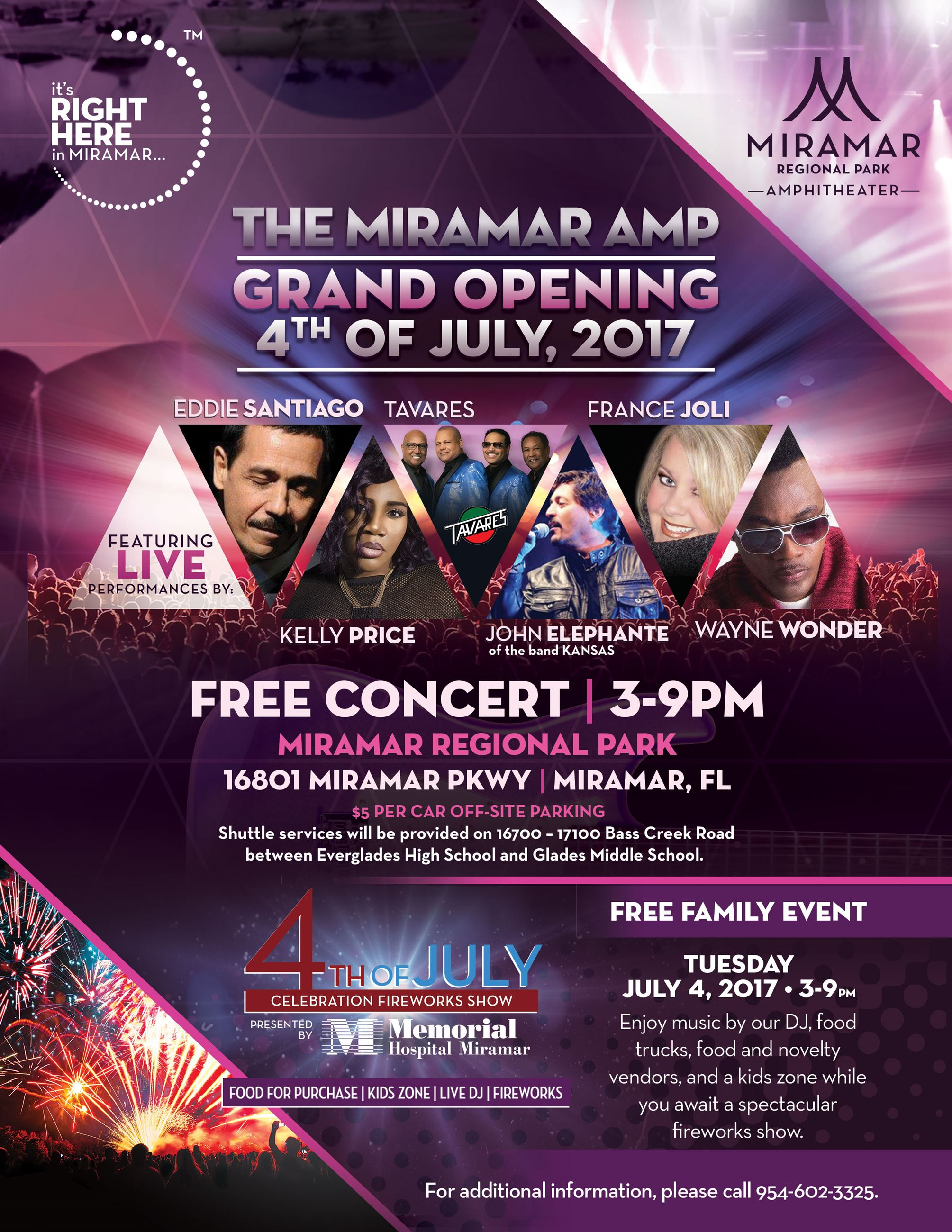 July 4th Amphitheater Grand Opening Flyer