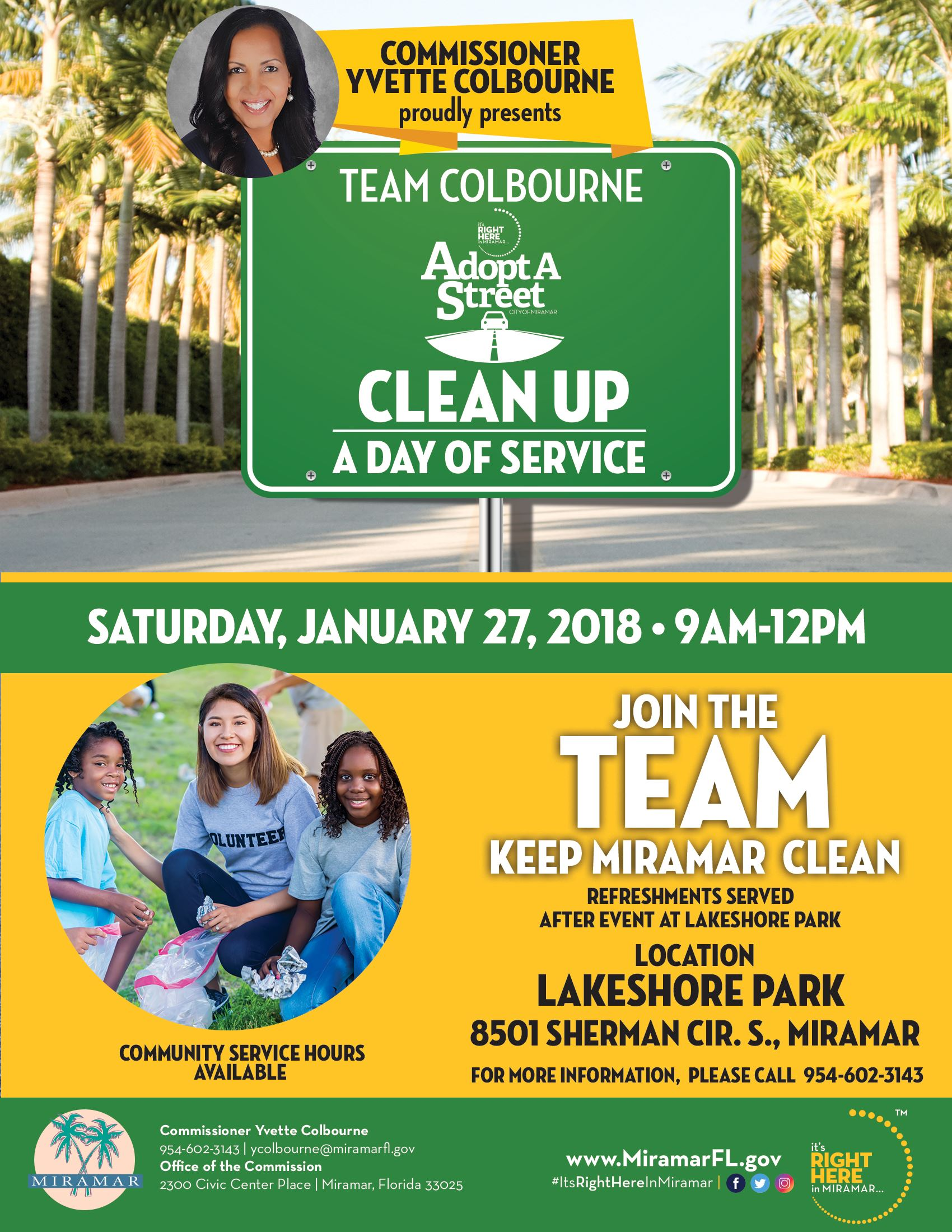 Commissioner Colbourne A Day of Service : Adopt A Street