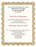 Mixed Use Certificate in 2007.
